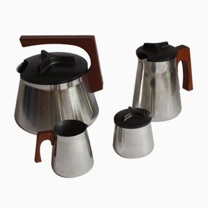 Tea and Coffee Service by Axel Enthoven for Demeyere Werkhuizen, Belgium, 1971, Set of 4