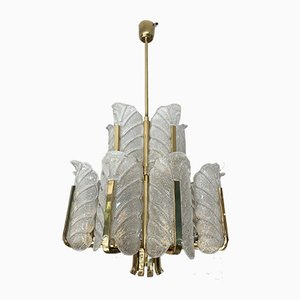 Two-Tier Chandelier by Carl Fagerlund for Orrefors, Sweden, 1960s