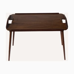 Foldable Teak Tray Table by Bendt Winge for Aase, Norway, 1950s