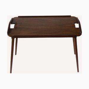 Tavolino pieghevole in teak di Bendt Winge per Aase, Norvegia, anni '50
