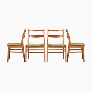 Scandinavian Chairs in Teak by Yngve Ekstrom for Hugo Troeds, 1950s, Set of 4