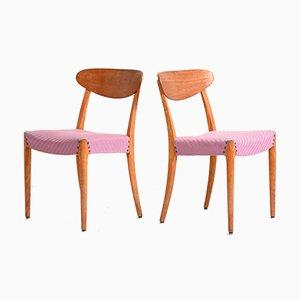 Skandinavische Stühle aus Teak, 1950er, 2er Set