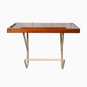 Teak and Metal Suspended Bedside Table