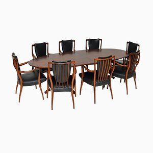 Dining Table and Chairs by Aj Milne for Heals, Set of 8