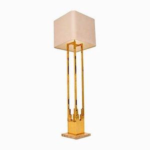 Italienische Vintage Lampe aus Messing & Marmor von F. Fabbian, 1970er