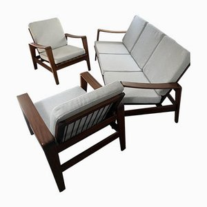 Model 35 Sofa and 2 Armchairs by Arne Wahl Iversen for Komfort, 1960s, Set of 3