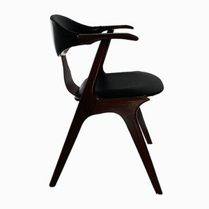 Vintage Cow Horn Chair by Louis Van Teeffelen for Awa, 1950s