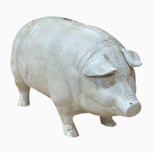 Großes Sparschwein aus Gusseisen, 20. Jh