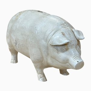 Large Piggy Bank in Cast Iron, 20th Century