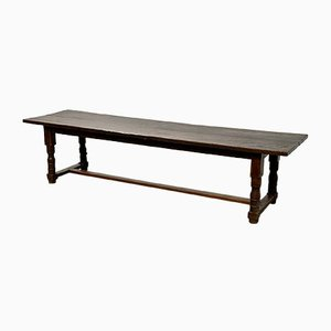 Large Oak Farmhouse Refectory Dining Table