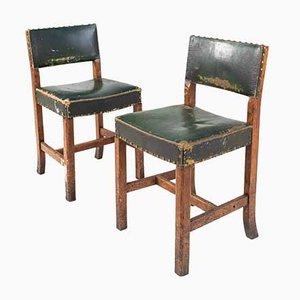 Eichenholz Stühle von H. Hallam & Sons, 2er Set