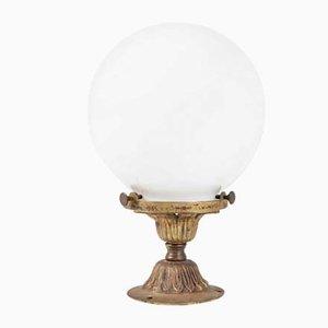 Kleine Kugel Opalglas Lampe