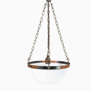 Opaline Bowl Ceiling Lamp
