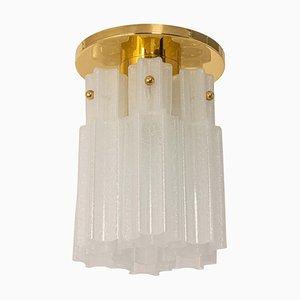 Kleine Einbaulampe aus Glas von Limburg, 1970er