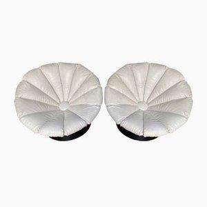 Poltrone a forma di girasole di Luciano Figerio, anni '60, set di 2