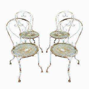 Französische Gartenstühle aus Eisen, 1950er, 4er Set