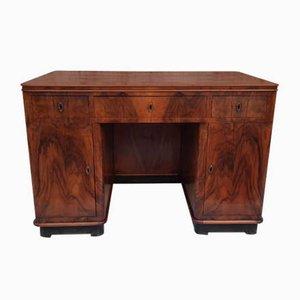 Art Deco Schreibtisch aus Nussholz, Italien
