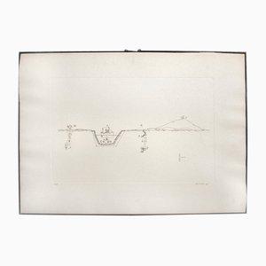 Litografia di Gianfranco Baruchello, Italia, 1975
