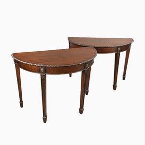 Tables Consoles Antiques en Acajou, Set de 2