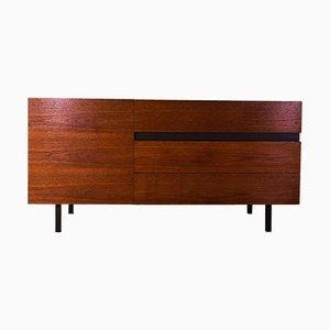 Teak Sideboard mit Tür und 3 großen Schubladen