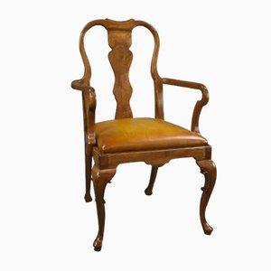 Chaise de Bureau Antique en Noyer