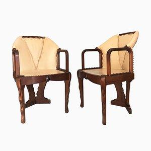Dutch Art Deco Tub Chairs, Set of 2