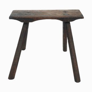 Taburete Primitive de madera maciza