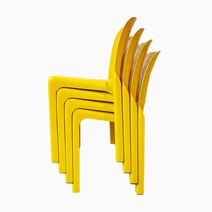 Stapelbare Modell Selene Stühle von Vico Magistretti für Artemide, Italy, 1969, 4er Set