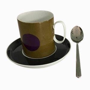 Tazas de café de porcelana de Rosenthal Studio. Juego de 6