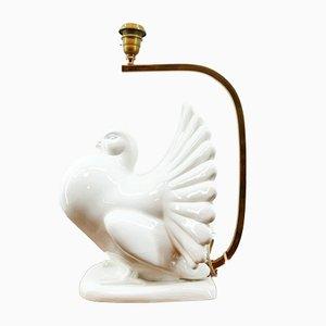 Colomba bianca in ceramica