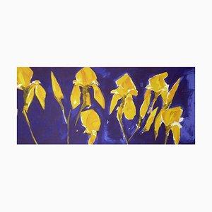 Bernd Zimmer: III Iris, Color Serigraphy, Silkscreen on Paper