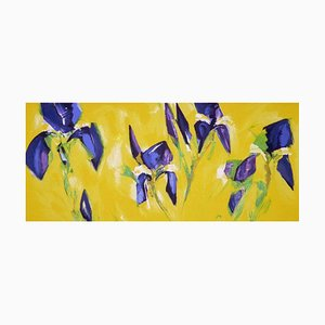 Bernd Zimmer: Iv Iris, Color Serigraphy, Silkscreen on Paper