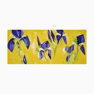 Bernd Zimmer: Iv Iris, serigrafía a color, serigrafía sobre papel