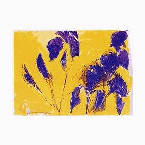 Bernd Zimmer: Iris, Color Serigraphy, Silkscreen on Paper