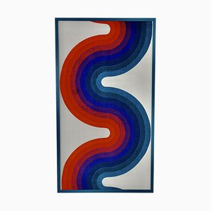 Verner Panton Style Fabric Board, 1970s