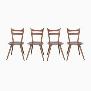 Scandinavian Bistro Chairs, Set of 4
