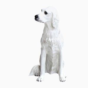 Perro italiano vintage de cerámica pintado a mano