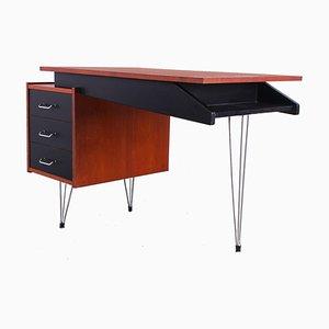 Teak Hairpin Desk by Cees Braakman for Pastoe, 1950s