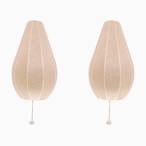 Vintage Cocoon Wandlampen, 2er Set