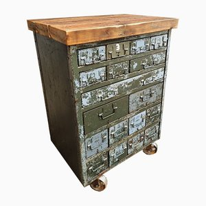 Industrial Army Chest of Drawers on Wheels