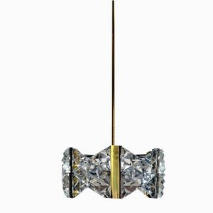 Crystal Vintage Pendant Lamp, Italy, 1950s