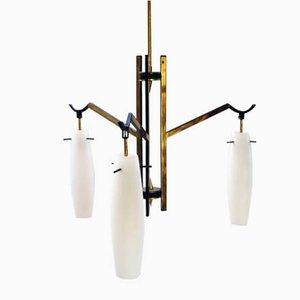 Vintage Kronleuchter mit Drei Leuchten von Stilnovo, Italien, 1950er