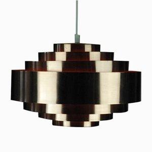 Copper Pendant Lamp by Jo Hammerborg for Fog & Menup, 1960s