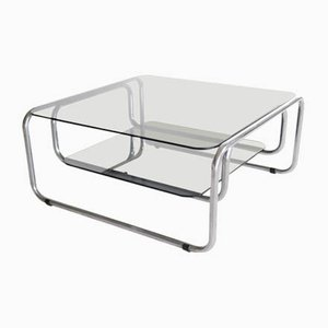 Chrome & Glass Coffee Table, Italy, 1970s