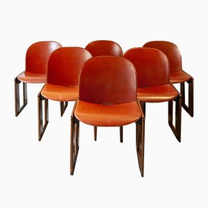 Model Dialogue Chairs by Afra and Tobia Scarpa for B&B Italia, 1974, Set of 6