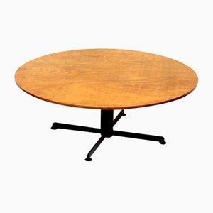 Tavolino da caffè rotondo vintage, anni '60