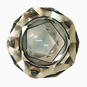 Cuenco decorativo de cristal de Murano, años 80