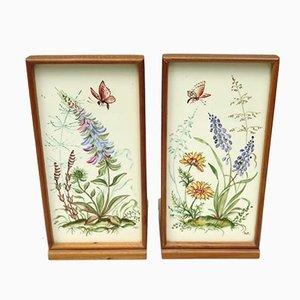 Meadow Flowers, Ilse Wehe, Painting, 1950s, Ceramics, Set of 2