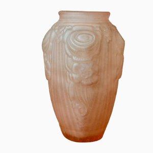 Art Deco Vase in Molded Pressed Glass
