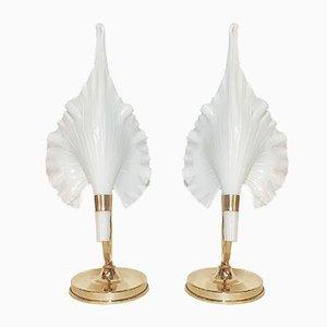 Tischlampen von Calla Lily für Franco Luce, Italien, 1960er, 2er Set